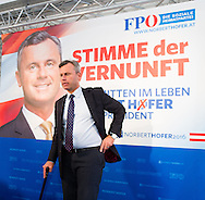 Austrian far right Freedom Party (FPÖ) presidential candidate and front runner Norbert Hofer during the party's press conference prior to the second round ballot of the Austrian Presidential Elections (on 22/5/16) in Vienna, Austria.<br /> Picture by EXPA Pictures/Focus Images Ltd 07814482222<br /> 29/04/2016<br /> <br /> ***UK & IRELAND ONLY***<br /> <br /> EXPA-GRU-160429-0105.jpg