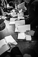 """MILANO - 17 FEBBRAIO 2019: Presentazione del libro """"Un'altra strada"""" di Matteo Renzi a Milano il 17 febbraio 2019."""