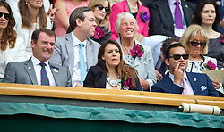 LONDON, ENGLAND - Saturday, July 5, 2014: 2013 Wimbledon Champion Marion Bartoli with Joseph Katz in the royal box during the Ladies' Singles Final match on day twelve of the Wimbledon Lawn Tennis Championships at the All England Lawn Tennis and Croquet Club. (Pic by David Rawcliffe/Propaganda)