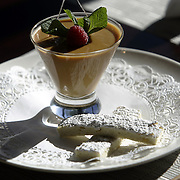 Yonkers, NY / 2008 - Old Bushmills butterscotch pudding with lady fingers - a dessert from the restaurant X20 - also known as Xaviers on the Hudson. ( Mike Roy / The Journal News )