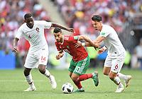 v.l. William, Younes Belhanda, Jose Fonte (Portugal)<br /> Moskau, 20.06.2018, FIFA Fussball WM 2018 in Russland, Vorrunde, Portugal - Marokko 1:0<br /> Norway only