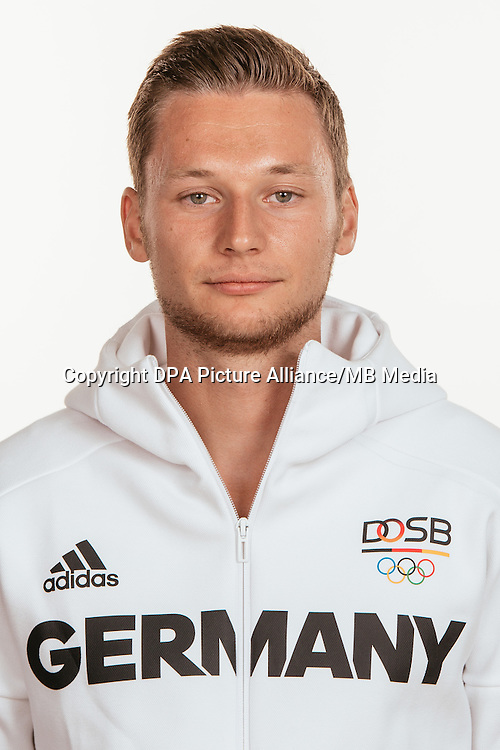 Roy Schmidt poses at a photocall during the preparations for the Olympic Games in Rio at the Emmich Cambrai Barracks in Hanover, Germany, taken on 20/07/16 | usage worldwide