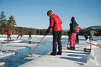 Rockywold Deephaven Camps annual Ice Harvest on Squam Lake.  Karen Bobotas Photographer