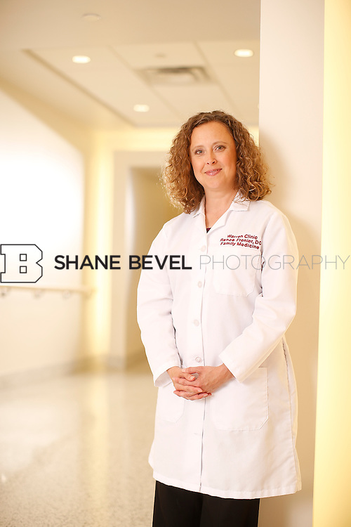 5/28/15 4:23:18 PM -- Dr. Renee Frenier of Saint Francis Health System poses for a portrait for the 2015 Advertising Campaign. <br /> <br /> Photo by Shane Bevel