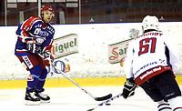 Ishockey<br /> GET-Ligaen<br /> 09.10.08<br /> Jordal Amfi<br /> Vålerenga VIF - Lørenskog<br /> Gavin Morgan<br /> Foto - Kasper Wikestad