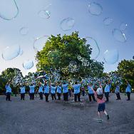 """Stephen Duncan """"Bubble Man"""" Tompkins Square Park, NYC"""