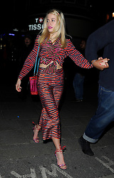 Pixie Lott attends the House of Holland catwalk show during London Fashion Week Fall/Winter 2015/16 at University of Westminster in London, UK. 21/02/2015<br />BYLINE MUST READ : GOTCHAIMAGES.COM<br /><br />Copyright by © Gotcha Images Ltd. All rights reserved.<br />Usage of this image is conditional upon the acceptance <br />of Gotcha Images Ltd, terms and conditions available at<br />www.gotchaimages.com