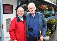 N Ireland news media photographers Raymond Humphries (left) and Victor Patterson, September, 2019, Humphries_Patterson_201909127269<br /> <br /> Copyright Image from Victor Patterson, Belfast, UK<br /> <br /> t: +44 28 9066 1296 (from Rep of Ireland 048 9066 1296)<br /> m: +44 7802 353836<br /> <br /> victorpattersonbelfast@gmail.com<br /> <br /> www.victorpatterson.com OR <br /> www.images4media.com<br /> <br /> Please see my Terms and Conditions of Use at https://www.victorpatterson.com/page2<br /> It is IMPORTANT that you familiarise yourself with them.<br /> <br /> Images used on the Internet incur an additional cost and must be visibly watermarked i.e. © Victor Patterson within the body of the image and copyright metadata must not be deleted. Images used on the Internet have a size restriction of 4 kbs and are chargeable at rates available at victorpatterson.com.<br /> <br /> This image is only available for the use of the download recipient i.e. television station, newspaper, magazine, book publisher, etc, and must not be passed on to any third party. It is also downloaded on condition that each and every usage is notified within 7 days to victorpattersonbelfast@gmail.com. Copyright Image from Victor Patterson, Belfast, UK.
