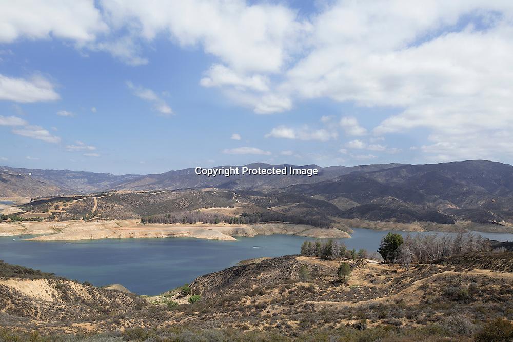 Castaic Lake located at Santa Clarita Valley is 40% water capacity.