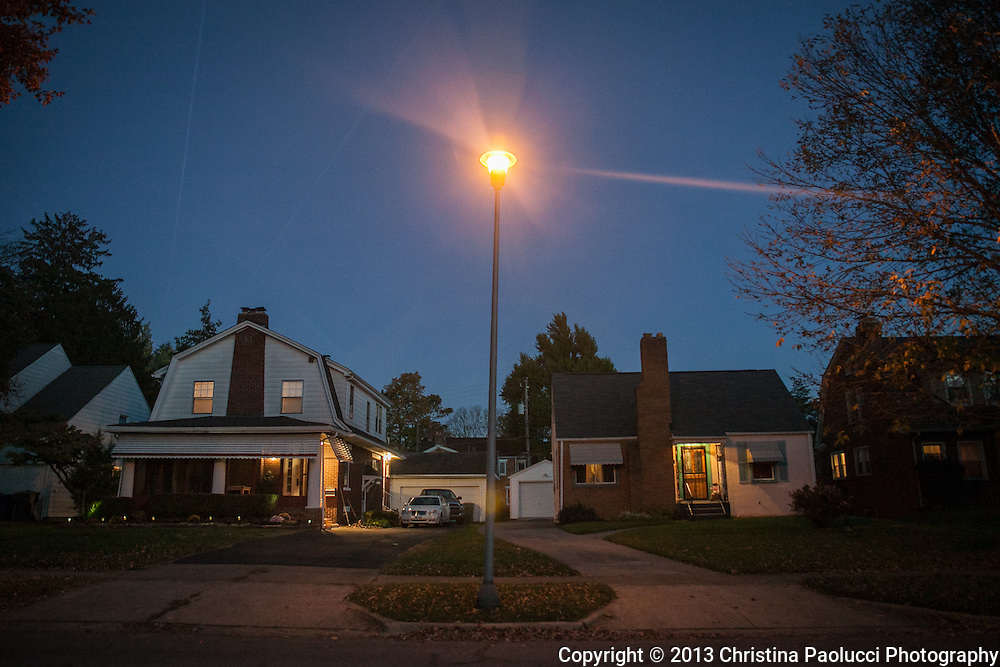Eastgate neighborhood in Columbus, Ohio under the evening skies October 27th, 2013. (Christina Paolucci, photographer).