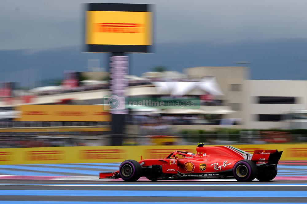 June 23, 2018 - Le Castellet, Var, France - Ferrari 7 Driver KIMI RAIKKONEN (FIN) in action during the Formula one French Grand Prix at the Paul Ricard circuit at Le Castellet - France. (Credit Image: © Pierre Stevenin via ZUMA Wire)
