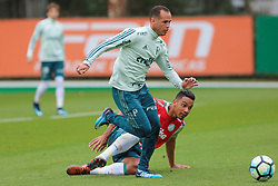 November 6, 2017 - Brazil - SAO PAULO, SP - 06.11.2017: TREINO DO PALMEIRAS - Guerra and AntÙnio Carlos during the training of Palmeiras held at the Club Soccer Academy in Sao Paulo (SP) (Credit Image: © Fotoarena via ZUMA Press)