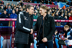 Aston Villa Manager Remi Garde greets Wycombe Wanderers Manager Gareth Ainsworth - Mandatory byline: Rogan Thomson/JMP - 19/01/2016 - FOOTBALL - Villa Park Stadium - Birmingham, England - Aston Villa v Wycombe Wanderers - FA Cup Third Round Replay.