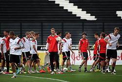 12.07.2014, San Januario Stadium, Rio de Janeiro, BRA, FIFA WM, Deutschland vs Argentinien, Finale, Abschlusstraining, im Bild die deutsche Mannschaft // German players and coach Joachim Loew (4 th. right) during a practice session of team Germany prior to Final match between Germany and Argentina of the FIFA Worldcup Brazil 2014 at the San Januario Stadium in Rio de Janeiro, Brazil on 2014/07/12. EXPA Pictures © 2014, PhotoCredit: EXPA/ Eibner-Pressefoto/ Cezaro<br /> <br /> *****ATTENTION - OUT of GER*****