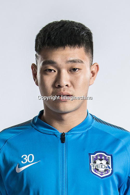 **EXCLUSIVE**Portrait of Chinese soccer player Ding Bowei of Tianjin TEDA F.C. for the 2018 Chinese Football Association Super League, in Tianjin, China, 28 February 2018.