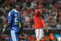 20120327: LISBON, PORTUGAL - Champions League 2011/2012 - Quarter-finals, First leg: SL Benfica vs Chelsea.<br /> In picture: Benfica's Bruno Cesar, from Brazil, right, reacts.<br /> PHOTO: Alvaro Isidoro/CITYFILES