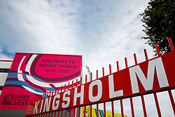 General View outside the stadium - Mandatory byline: Rogan Thomson/JMP - 07966 386802 - 23/09/2015 - RUGBY UNION - Kingsholm Stadium - Gloucester, England - Scotland v Japan - Rugby World Cup 2015 Pool B.