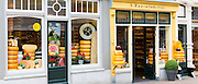 Shop front frontage of cheese shop 't Kaaswinkeltje in Lange Tiendeweg Gouda, Holland, The Netherlands