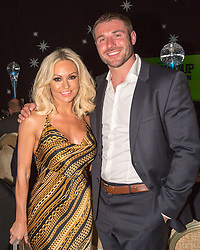 LONDON- UK- 01-MAY- 2014: Ben Cohen Foundation Ball held at the Hurlingham Club in London. Several members of the Strictly Dancing competitors attend in aid of his charity.<br /> Strictly's Kristin Rihanoff with Ben Cohen<br /> Photograph by Ian Jones&copy;.