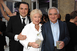 Left to right, DOMINIC McCARTHY and his parents CAROLINE NEVILLE and JOE McCARTHY at the Tanqueray No.TEN cocktail party held at No1 Piazza, Covent Garden, London on 10th June 2008.<br /><br />NON EXCLUSIVE - WORLD RIGHTS