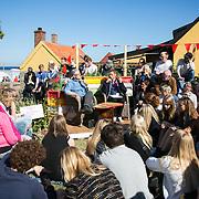 Folkemøde 2015 i Allinge på Bornholm. Information's Christian Jensen i samtale med Mogens Lykketoft.