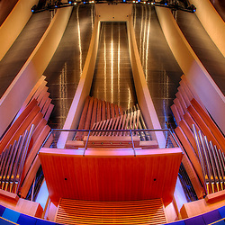Organ by Casavant Frères in Helzberg Hall at the Kauffman Center for the Performing Arts in Kansas City, Missouri.