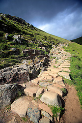 UK SCOTLAND BEN NEVIS 14JUN08 - Stony path on the way to ascending Ben Nevis at the beginning of the Three Peaks Challenge Event in the Scottish Highlands...jre/Photo by Jiri Rezac  ..© Jiri Rezac 2008..Contact: +44 (0) 7050 110 417.Mobile:  +44 (0) 7801 337 683.Office:  +44 (0) 20 8968 9635..Email:   jiri@jirirezac.com.Web:    www.jirirezac.com..© All images Jiri Rezac 2008 - All rights reserved.