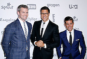 Ryan Sirhant, Fredrik Eklund and Louis D. Ortiz attend the 2015 NBCUniversal Cable Entertainment Upfront at the Javitz Center North Hall in New York City, New York on May 14, 2015.