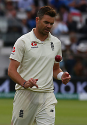 August 12, 2018 - London, Greater London, United Kingdom - England's James Anderson .during International Test Series 2nd Test 4th day  match between England and India at Lords Cricket Ground, London, England on 12 August  2018. (Credit Image: © Action Foto Sport/NurPhoto via ZUMA Press)