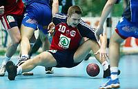 Håndball, 02.juni 2002. Landskamp Norge - Jugoslava (Yugoslavia). Frode Hagen, Norge.