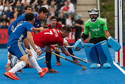 Alan Forsyth of Great Britain Men shoots during the 2019 Men's FIH Pro League match at Lee Valley Hockey Centre, Stratford<br /> Picture by Simon Parker/Focus Images Ltd <br /> 18/05/2019