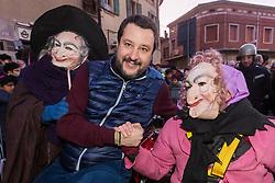 MATTEO SALVINI IN MOTO CON LA BEFANA<br /> VISITA DI MATTEO SALVINI A BONDENO