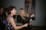 Courtney Love and Kathy Lette, ' Show Off' Theo Fennell exhibition co-hosted wit Vanity Fair. Royal Academy. Burlington Gdns. London. 27 September 2007. -DO NOT ARCHIVE-© Copyright Photograph by Dafydd Jones. 248 Clapham Rd. London SW9 0PZ. Tel 0207 820 0771. www.dafjones.com.