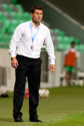 Ermin Siljak, head coach of Olimpija during football match between NK Olimpija and NK Celje in 6th Round of Prva liga NZS 2012/13, on August 18, 2012 in SRC Stozice, Slovenia. (Photo by Urban Urbanc / Sportida.com)