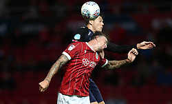 Aden Flint of Bristol City challenges for the ariel ball with Tom Boere of FC Twente - Mandatory by-line: Gary Day/JMP - 28/07/2017 - FOOTBALL - Ashton Gate Stadium - Bristol, England - Bristol City v FC Twente - Pre-season friendly