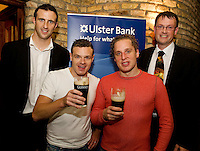 "19/7/2011. Joe Bergin Ulster Bank, Richard Frame and David Newman from the Propeller Company and Dermot O Connell Ulster Bank in McSwiggans for the pre show reception of Propeller's ""Comedy of Errors"" by Shakspeare in the Galway Arts Festival, sponsored by Ulster Bank. Photo:Andrew Downes"