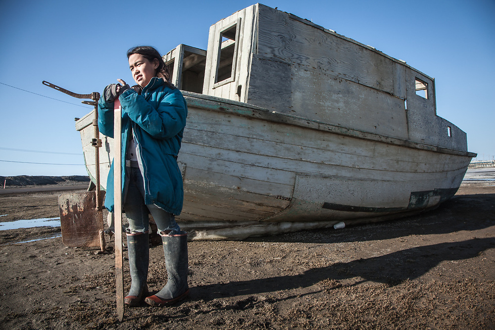 Ten year old Anya Scgevan, Barrow, Alaska, Purchase Centennial Poject