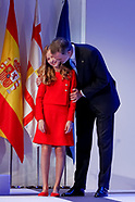 110419 Spanish Royals attend the Princess of Girona awards 2019 ceremony