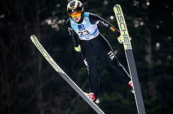 Lara Malsiner of Italy soaring through the air during Trial Round at Day 1 of World Cup Ski Jumping Ladies Ljubno 2019, on February 8, 2019 in Ljubno ob Savinji, Slovenia. Photo by Matic Ritonja / Sportida