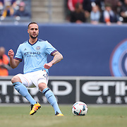 NEW YORK, NEW YORK - April 12: Maxime Chanot #4 of New York City FC in action during the New York City FC Vs San Jose Earthquakes regular season MLS game at Yankee Stadium on April 1, 2017 in New York City. (Photo by Tim Clayton/Corbis via Getty Images)