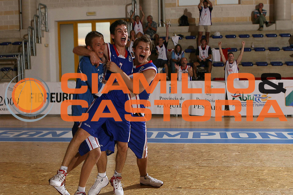 DESCRIZIONE : Pescara Termosteps U16 European Championship Men Semifinal Turkey Czech Republic<br />