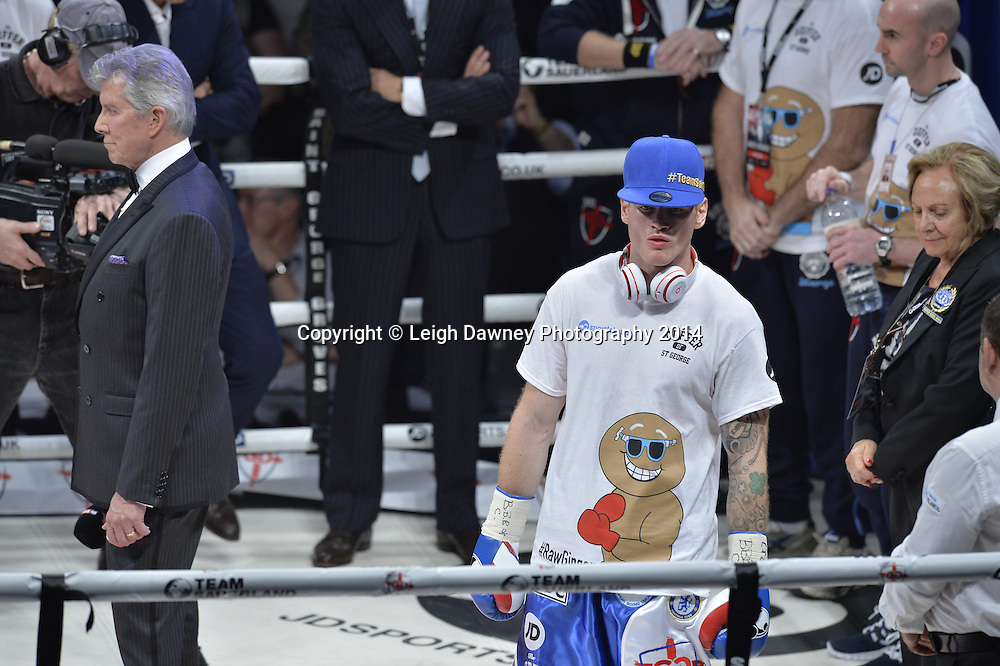 George Groves (pictured) v Christopher Rebrasse for the EBU (European) Super Middleweight Title & Vacant WBC Super Middleweight Title at the SSE Wembley Arena, London on the 20th September 2014. Sauerland Promotions. Credit: Leigh Dawney Photography.