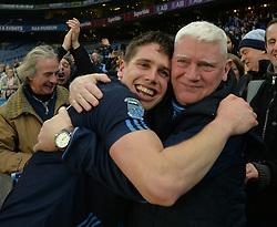 Lee Keegan celebrates with dad Phil<br />Pic Conor McKeown