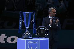 November 19, 2017 - London, England, United Kingdom - The trophy during day eight of the 2017 Nitto ATP World Tour Finals at O2 Arena on November 19, 2017 in London, England. (Credit Image: © Alberto Pezzali/NurPhoto via ZUMA Press)