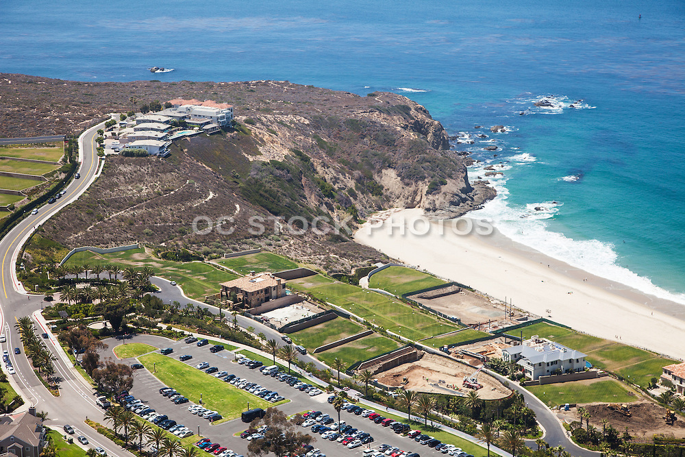 The Strand at Headlands Aerial Stock Photo Looking South