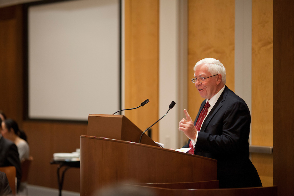 University of Iowa Interim President Jean Robillard speaks at a symposium honoring the career of Dr. Donald Gurnett, professor of physics at the University of Iowa's Levitt Center for University Advancement in Iowa City on Saturday, October 17, 2015. (Rebecca F. Miller/Freelance for The Gazette)