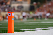 AUSTIN, TX - AUGUST 31: A Big 12 pylon in the end zone Darrell K Royal - Texas Memorial Stadium as the Texas Longhorns host the New Mexico State Aggies on August 31, 2013 in Austin, Texas.  (Photo by Cooper Neill/Getty Images) *** Local Caption ***