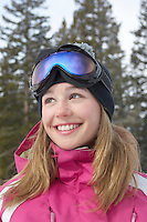Smiling Teen on the Ski Slope