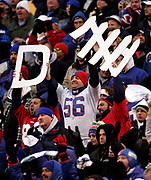 New York Giants fan cheer their team from the stands.