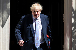 © Licensed to London News Pictures. 08/05/2018. London, UK. Foreign Secretary Boris Johnson leaves 10 Downing Street after the Cabinet meeting. Photo credit: Rob Pinney/LNP